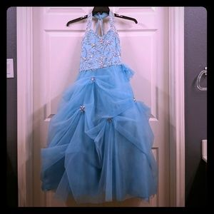 Ice blue pageant dress
